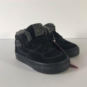 Vans Half Cab Sherpa Black Black Sneakers